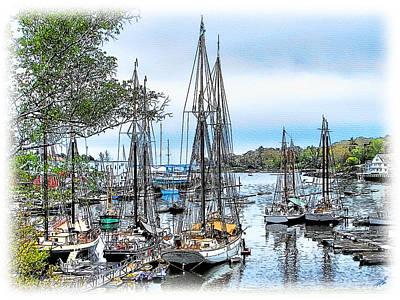 Tom Schmidt Painting - Camden Bay Harbor by Tom Schmidt