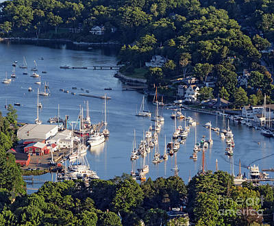 Photograph - Camden Harbor, Camden, Maine  -33754 by John Bald