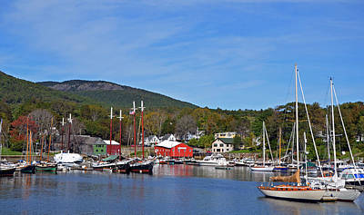 Photograph - Camden Harbor by Corinne Rhode