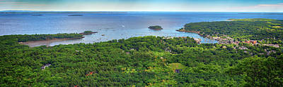 Camden Harbor From The Summit Of Mount Battie Art Print