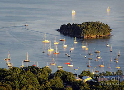 Photograph - Camden Harbor In Early September, Camden, Maine  -33786 by John Bald