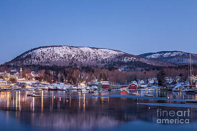 Photograph - Camden Harbor In Winter by Susan Cole Kelly