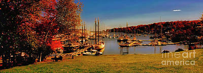 Photograph - Camden Harbor Maine Fall Afternoon by Tom Jelen