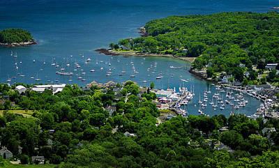 Photograph - Camden Harbor Maine From Mount Battie 2 by David Smith