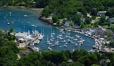 Photograph - Camden Harbor Maine From Mount Battie by David Smith