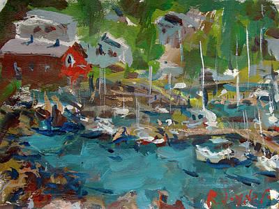 Painting - Camden Harbor Painting by Robert Joyner