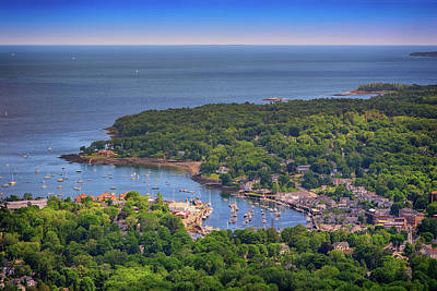 Photograph - Camden Harbor by Rick Berk