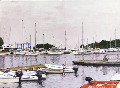Camden Maine Marina Art Print by Thomas Michael Meddaugh