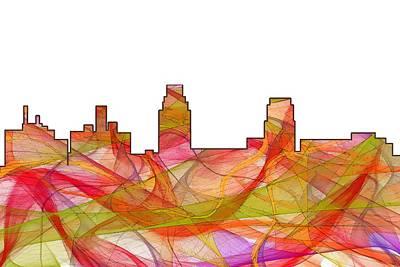 Nj Digital Art - Camden Nj Skyline by Marlene Watson