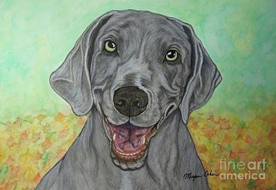 Wall Art - Painting - Camden The Weimaraner by Megan Cohen