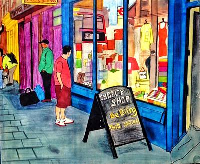 Camden Drawing - Camden Tings by Sreeji Sreedharan