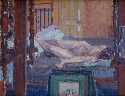 Bed Painting - Camden Town Nude by Spencer Frederick Gore