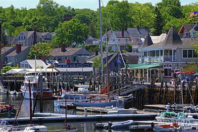 Photograph - Camden Village Maine by Marty Fancy