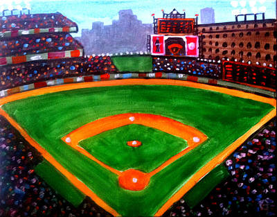 Baseball Paint Painting - Camden Yards by Baltimore Paints