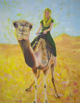 Painting - Camel At Work by Shirley Wellstead