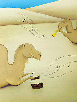 Camel Band Art Print by Lael Borduin