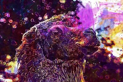 Dromedary Digital Art - Camel Brown Animal Dromedary  by PixBreak Art
