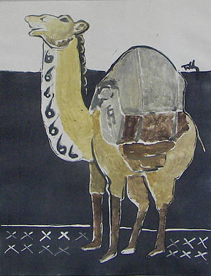 Painting - Camel Facing Left by Thomas Tribby