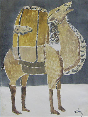 Painting - Camel Facing Right by Thomas Tribby