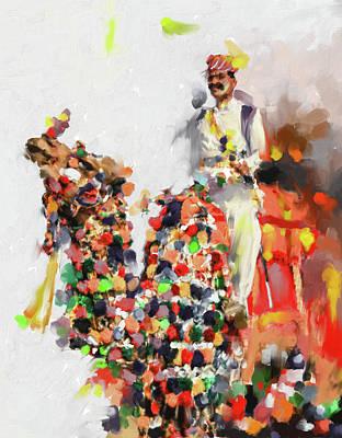 Painting - Camel Fair 434 2 by Mawra Tahreem