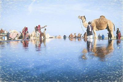 Dromedary Digital Art - Camel Fair Pushkar by Muslianshah Masrie