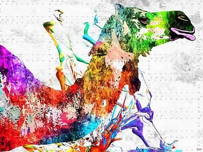 Camel Mixed Media - Camel Grunge by Daniel Janda