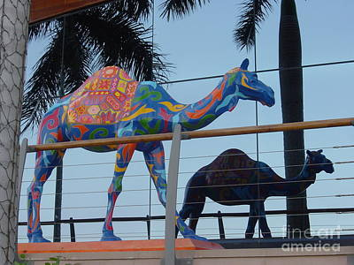 Painting - Camel In Front Of Jumeriah Beach Hotel by Donna Acheson-Juillet