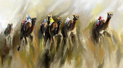 Painting - Camel Race 1 667 3 by Mawra Tahreem