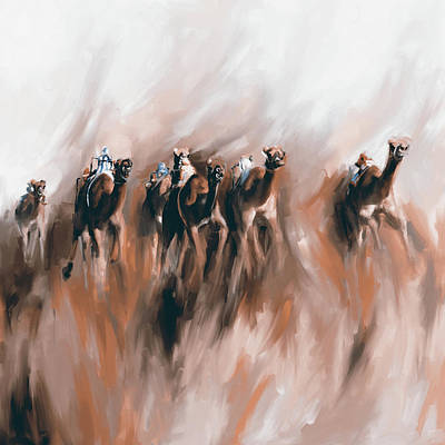 Painting - Camel Race 1 667 4 by Mawra Tahreem