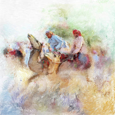 Painting - Camel Race 2 668 1 by Mawra Tahreem