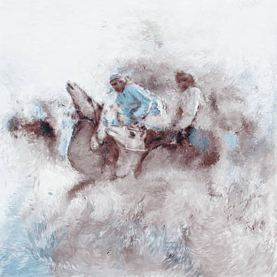 Painting - Camel Race 2 668 2 by Mawra Tahreem