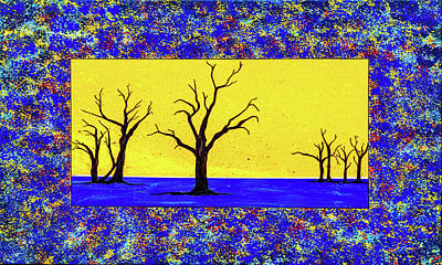 Painting - Camel Thorn Trees  by Ken Frischkorn