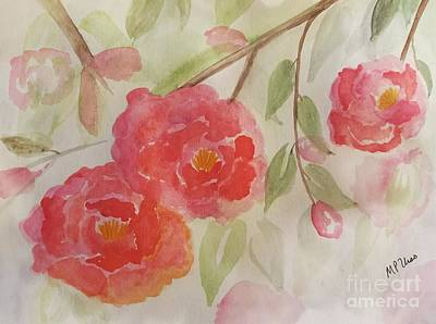 Painting - Camelia Watercolor by Maria Urso
