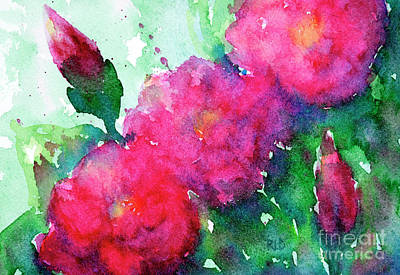 Painting - Camellia Abstract by Rebecca Davis