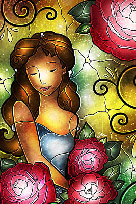 Digital Art - Lady Camellia by Mandie Manzano