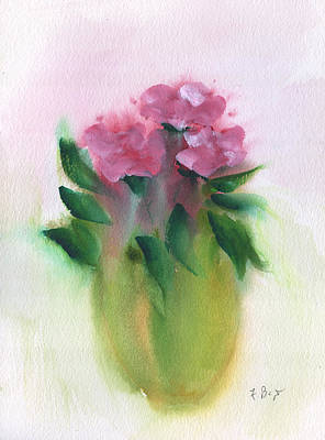 Painting - Camellias Abstract by Frank Bright