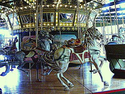 Photograph - Camelot Carousel by Nancy Kane Chapman