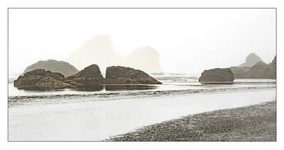 Camel Rock From Moonstone Beach Art Print