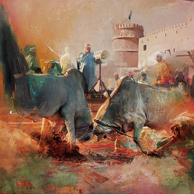 Painting - Camels And Desert 27 by Mahnoor Shah