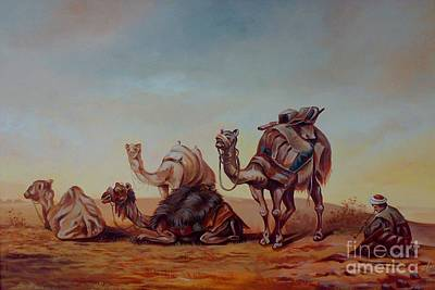 Camels Art Print by Shanju Azhikode