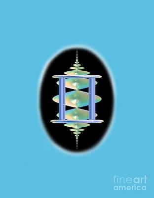 Cameo Abstract In Aqua Original by Linda Phelps