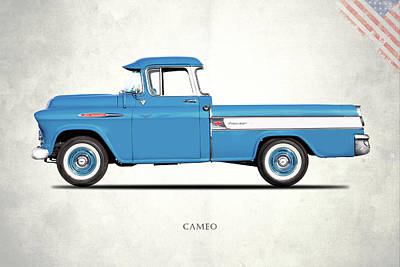 Cameo Pickup 1957 Art Print by Mark Rogan