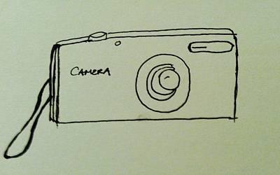 Drawing - Camera  by Alohi Fujimoto