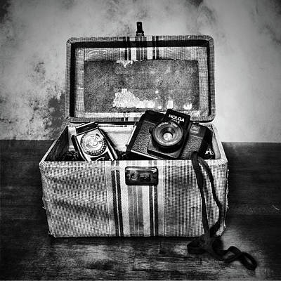 Photograph - Camera Bag Black And White by Sharon Popek