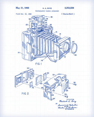 Painting - Camera Body Patent Drawing by Gary Grayson