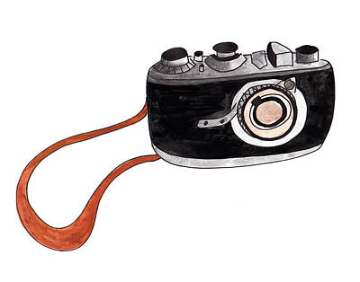 Painting - Camera Of Henri Cartier Breton by Anna Elkins