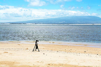 Photograph - Camera On Deserted Beach by Joe Belanger