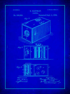 Vintage Camera Mixed Media - Camera Patent Drawing 1d by Brian Reaves