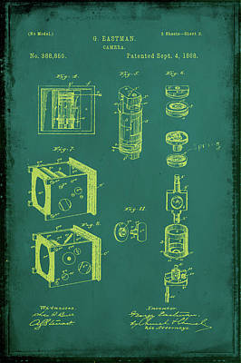 35mm Mixed Media - Camera Patent Drawing 2a by Brian Reaves