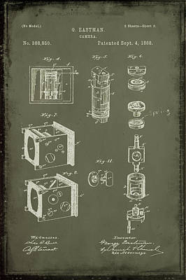 35mm Mixed Media - Camera Patent Drawing 2f by Brian Reaves